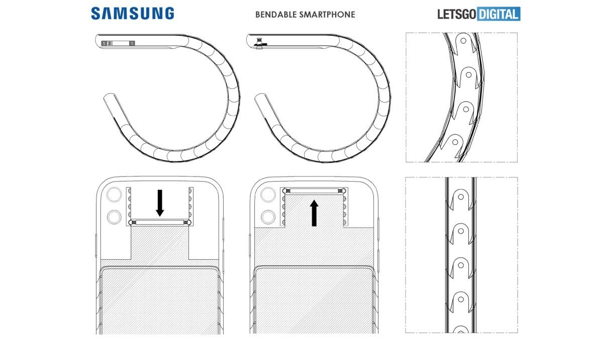 Samsung Galaxy flexible smartphone concept