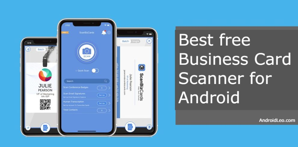 Best free Business Card Scanner for Android