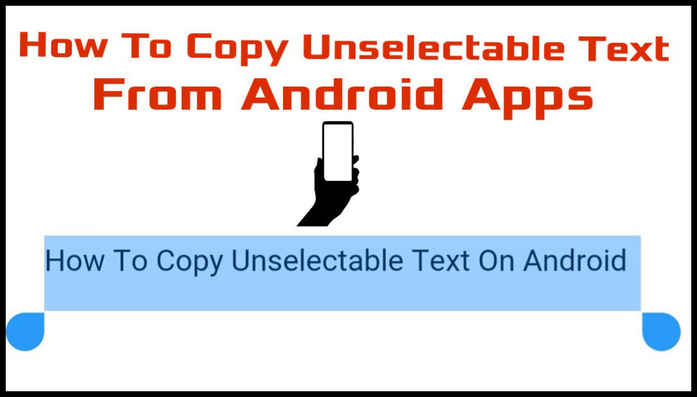 copy text on android app