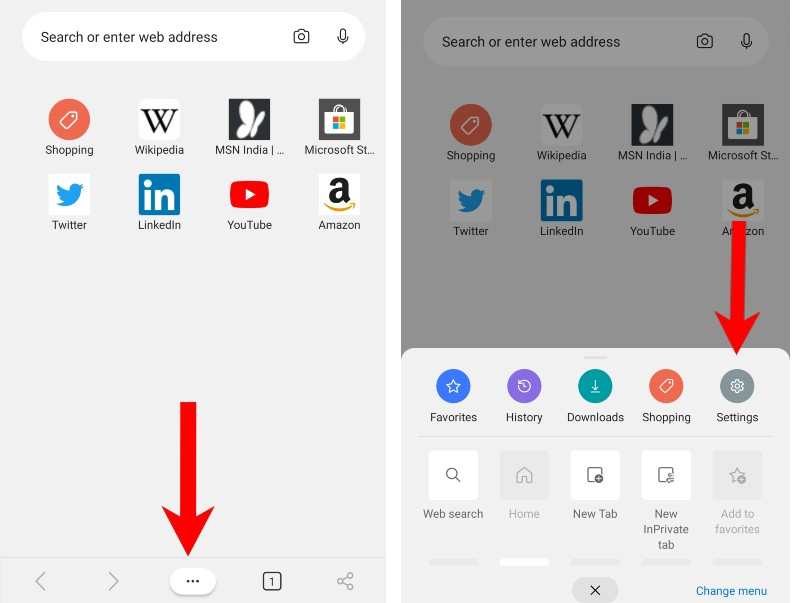 how to enable dark mode in edge browser android