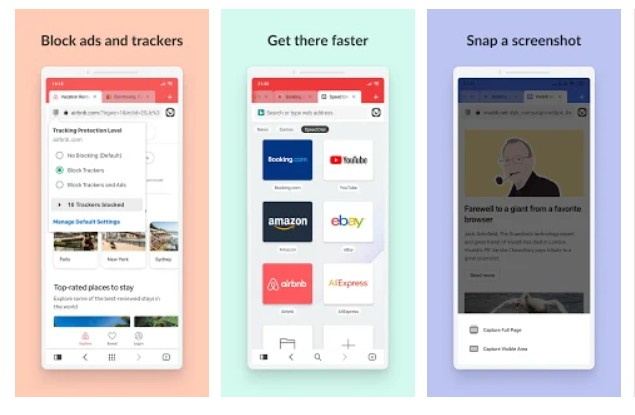 fastest web browser apps