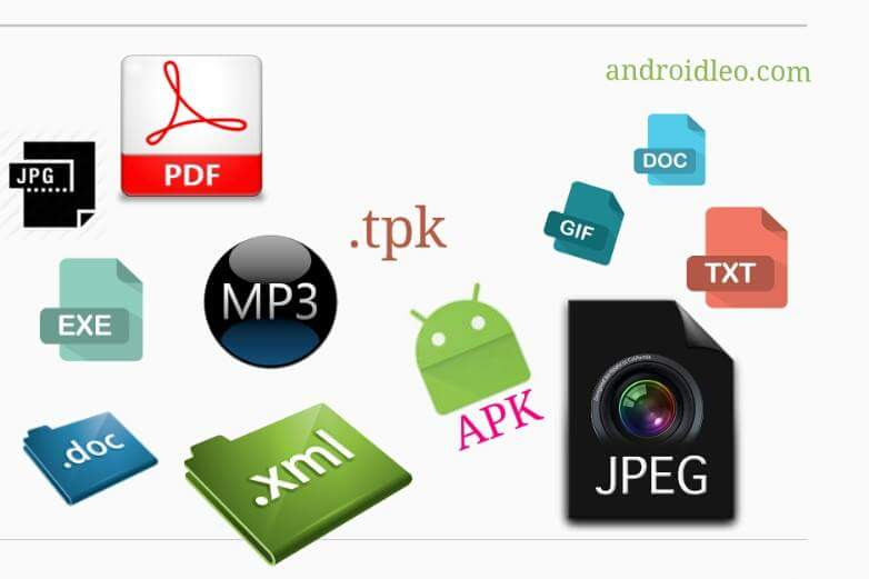 file extension of all mobile os and apps