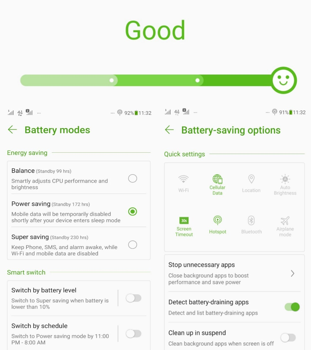 best battery saving mode in phone