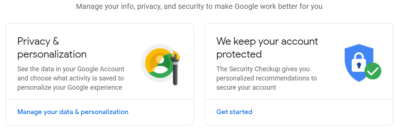 find google account recent activity