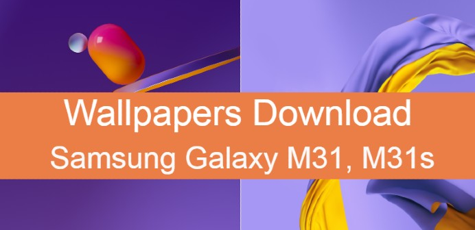 Samsung galaxy M31s stock wallpapers