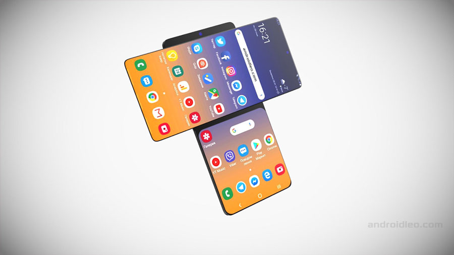 samsung galaxy wing with dual screen concept phone